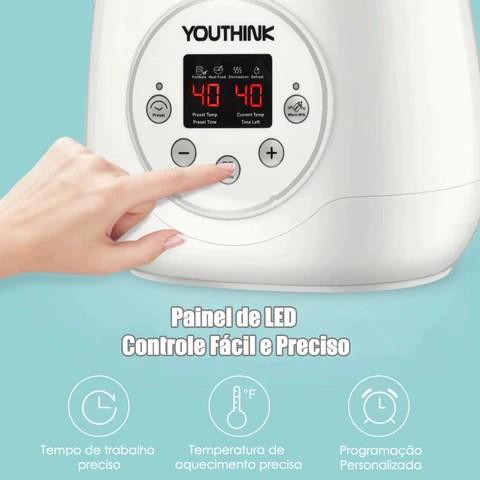 aquecedor de mamaderias painel de led contrle facil e preciso