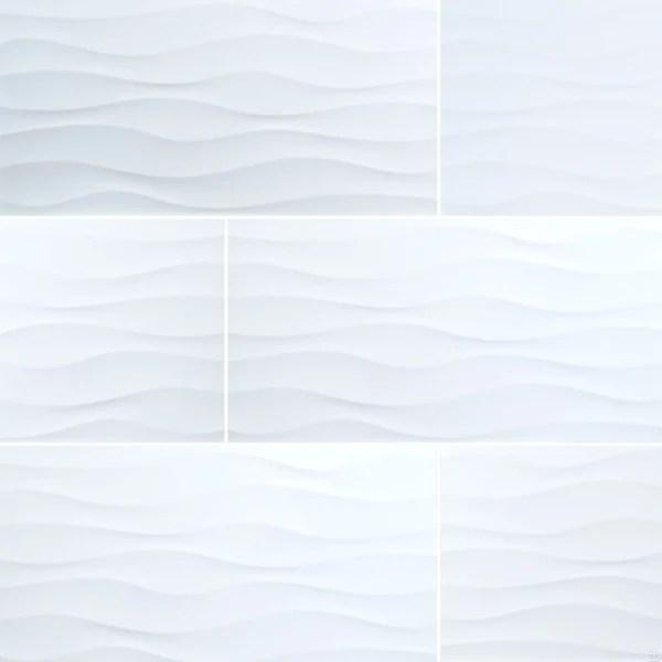 metro wave white ceramic tiles