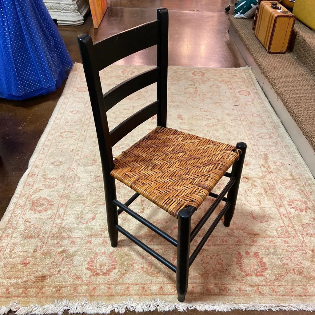 Painted Black Ladder Back Chair Serendipity