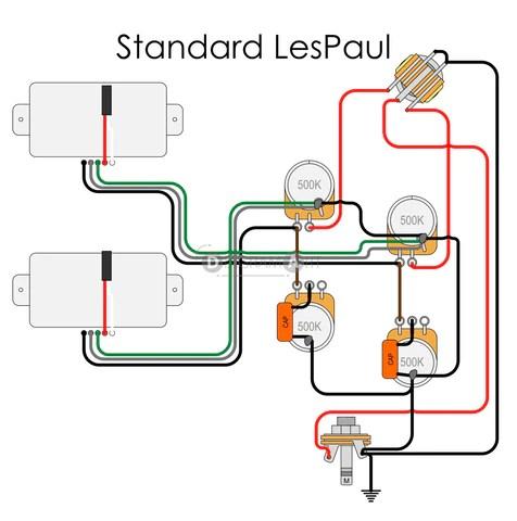 Electric Guitar Wiring: Standard LesPaul [Electric Circuit