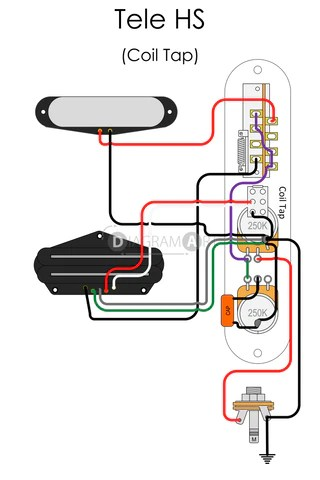 Electric Guitar Wiring: Tele HS (Coil Tap) [Electric