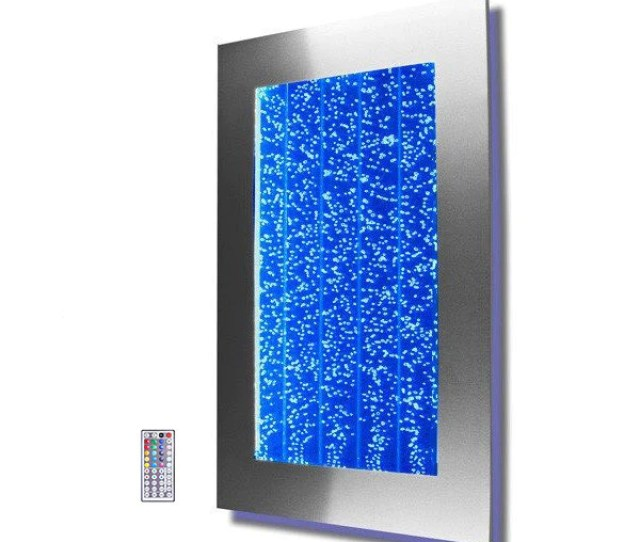 Wm  Wall Mount Bubble Wall Led Indoor Fountain Water Feature