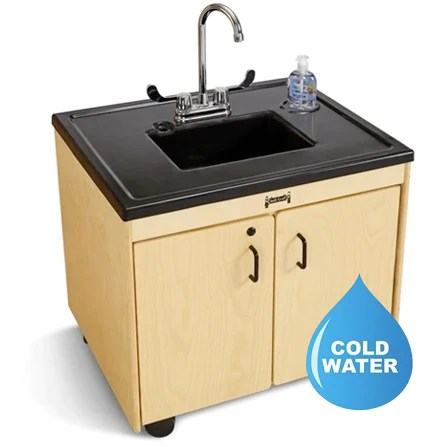 jonti craft 1380jc 26 non heated unit cold water only child height portable sink