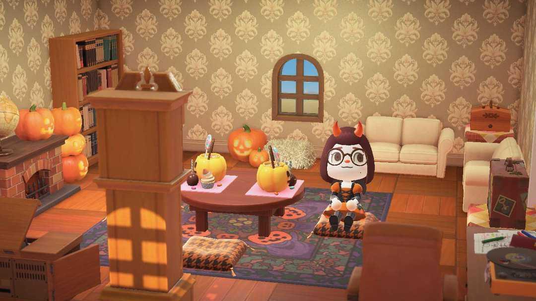 Animal Crossing: New Horizons ?️: Set - Spooky Living Room ... on New Horizons Living Room  id=47415