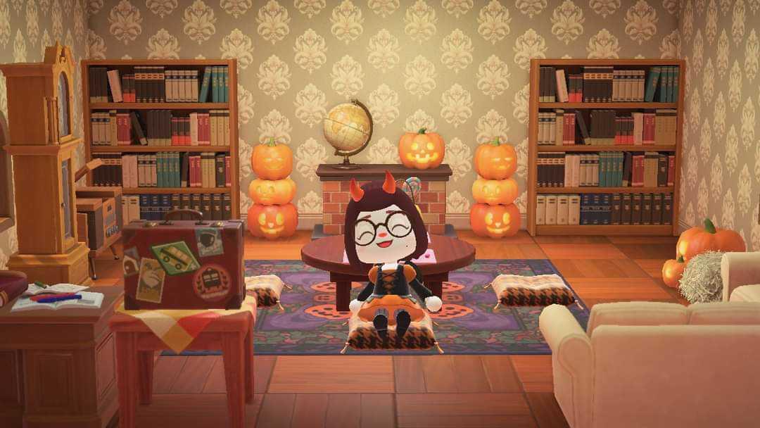 Animal Crossing: New Horizons ?️: Set - Spooky Living Room ... on Animal Crossing New Horizons Living Room  id=51155