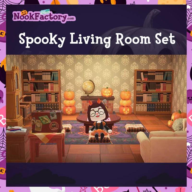 Animal Crossing: New Horizons ?️: Set - Spooky Living Room ... on New Horizons Living Room  id=40217
