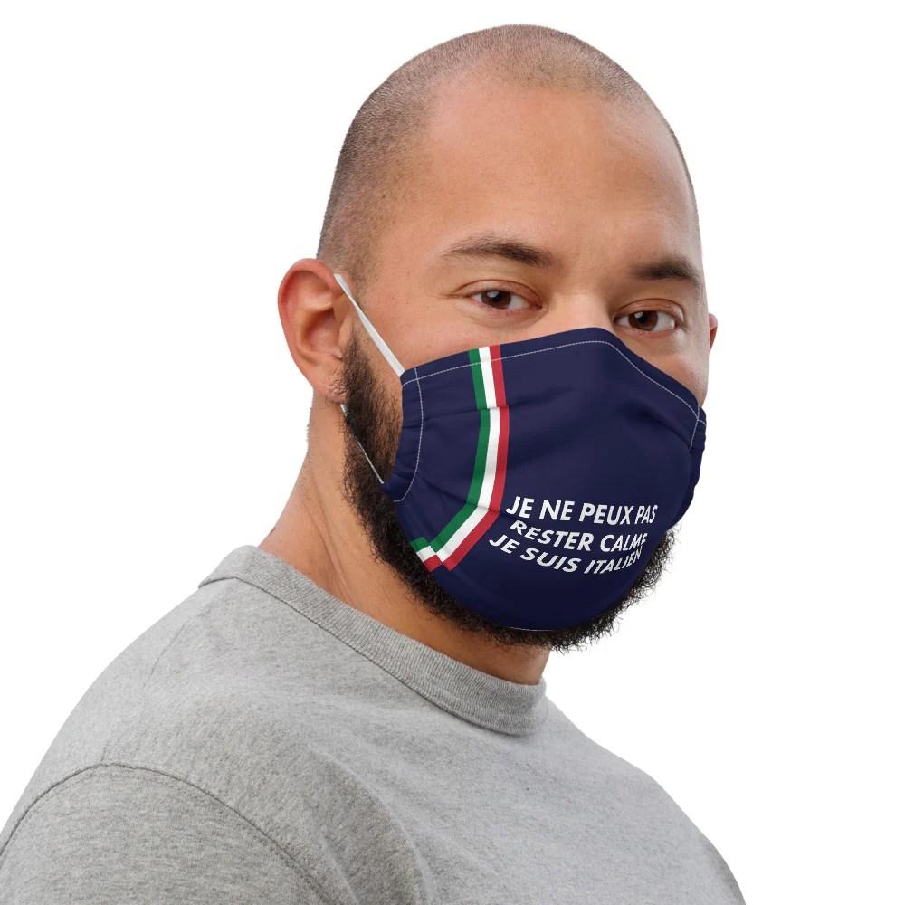 masque en tissu italien premium reutilisable je ne peux pas rester c ici la t shirts souvenirs de chez toi
