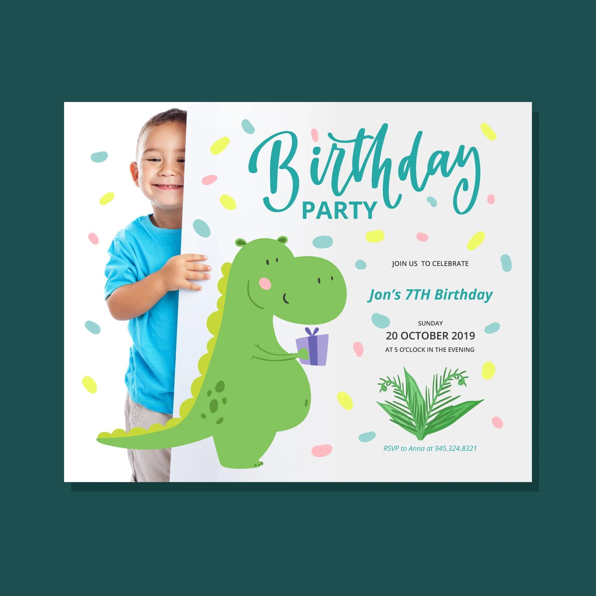 join us to celebrate dinosaur theme birthday invitation card set of 25 pcs