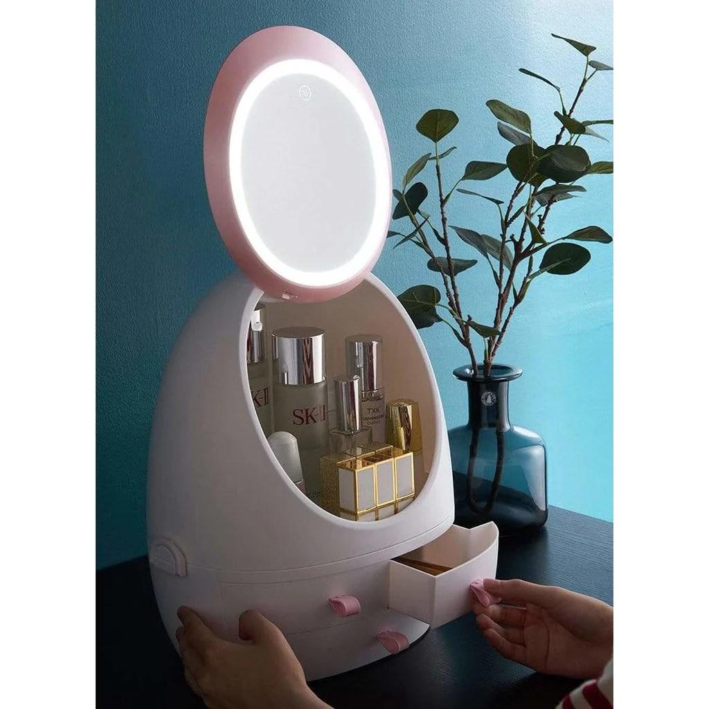 Miroir Maquillage Led Boite De Rangement Mon Beau Miroir