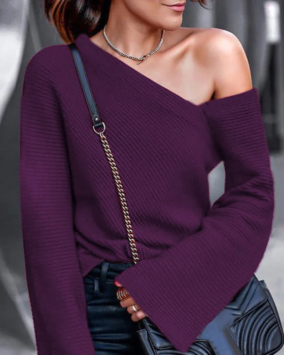 Bell Sleeve Pullover Casual Blouse 6