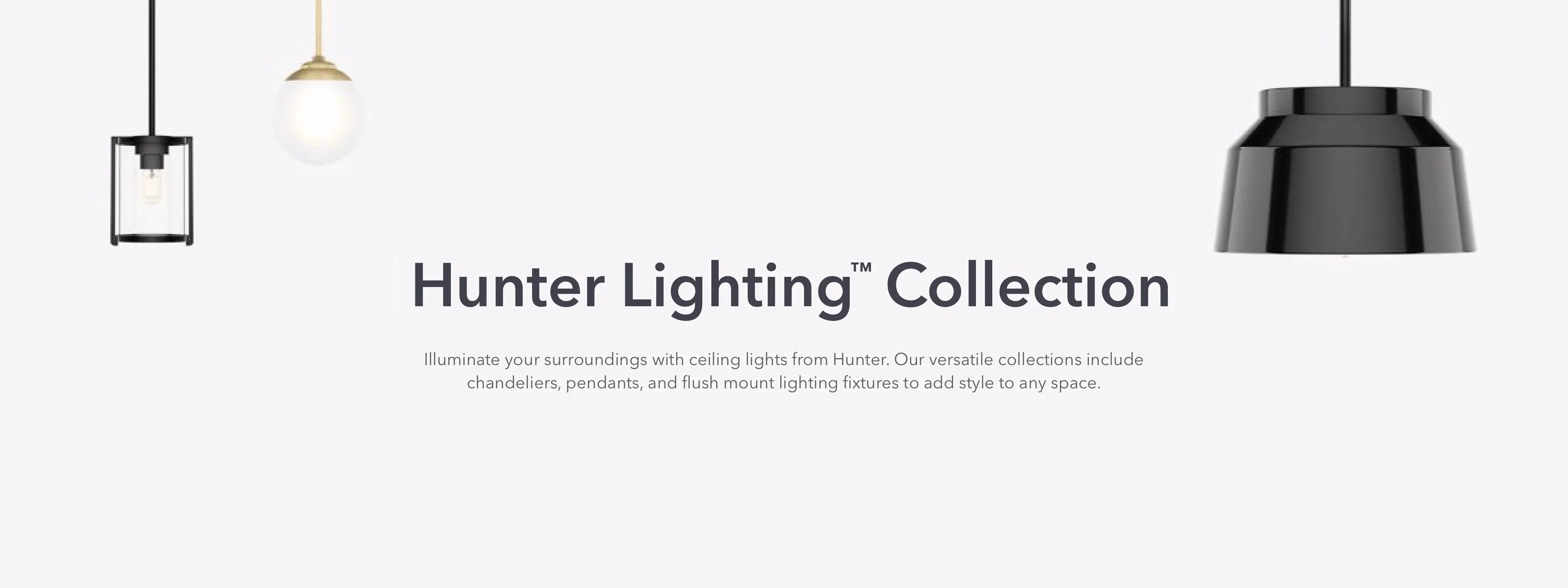 matching ceiling lights fans hunter fan