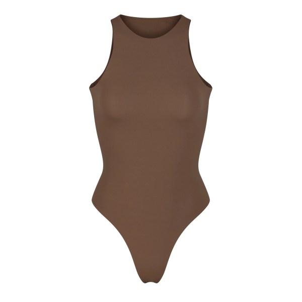 SKIMS Fits Everybody High Neck Bodysuit - Brown - Size 4XL