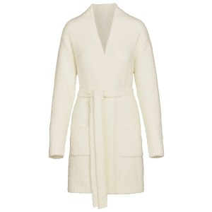 SKIMS Women's Cozy Knit Short Robe - White - Size 4XL/5XL