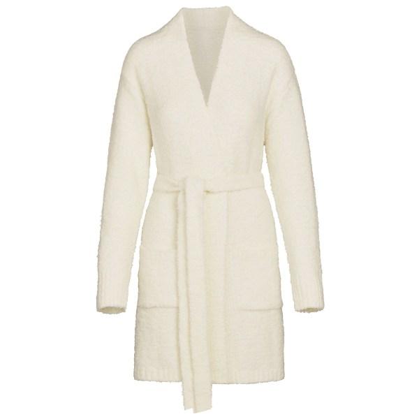 SKIMS Women's Cozy Knit Short Robe - White - Size 4XL/5XL