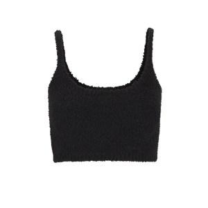 SKIMS Wireless Cozy Knit Bralette - Black - Size XXS/XS