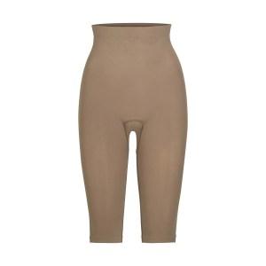 SKIMS Women's Sculpting Legging Below The Knee Shapewear - Brown - Size XXS/XS