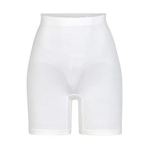SKIMS Sculpting Short Mid Thigh Shapewear - White - Size XXS/XS