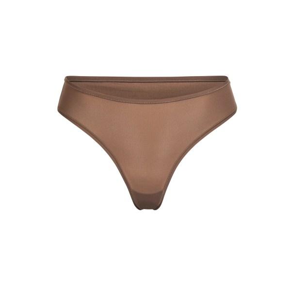 SKIMS Fits Everybody Thong Panties - Brown - Size 4XL