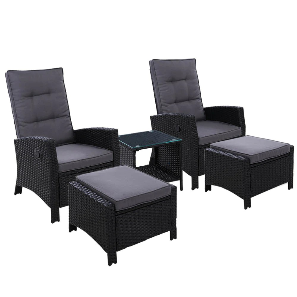 outdoor furniture recliner chairs table
