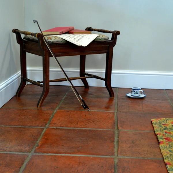 handmade terracotta floor tiles