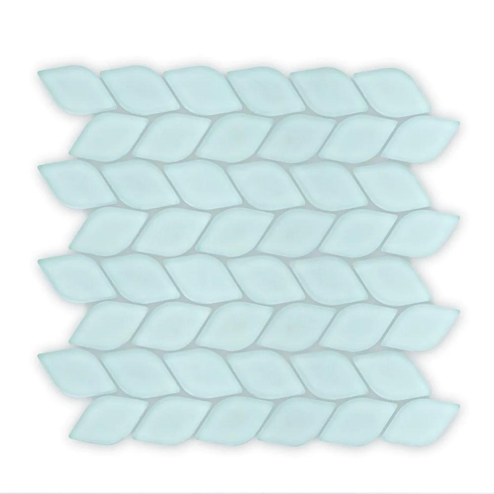 aurora leaf glass mosaic tile