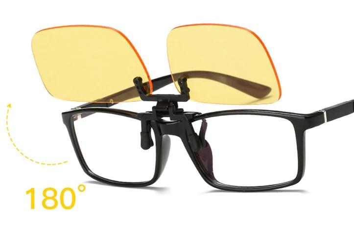 bluelight blocking clip glasses