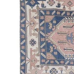 bleu rose tapis persan 210x330 cm mazir