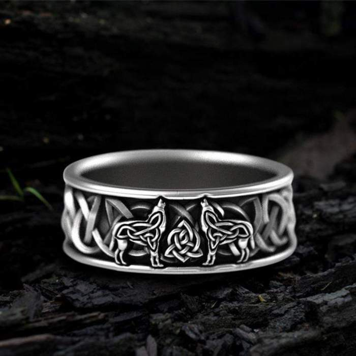 gthic ring stainless steel 7 back order fenris wolf stainless steel viking ring