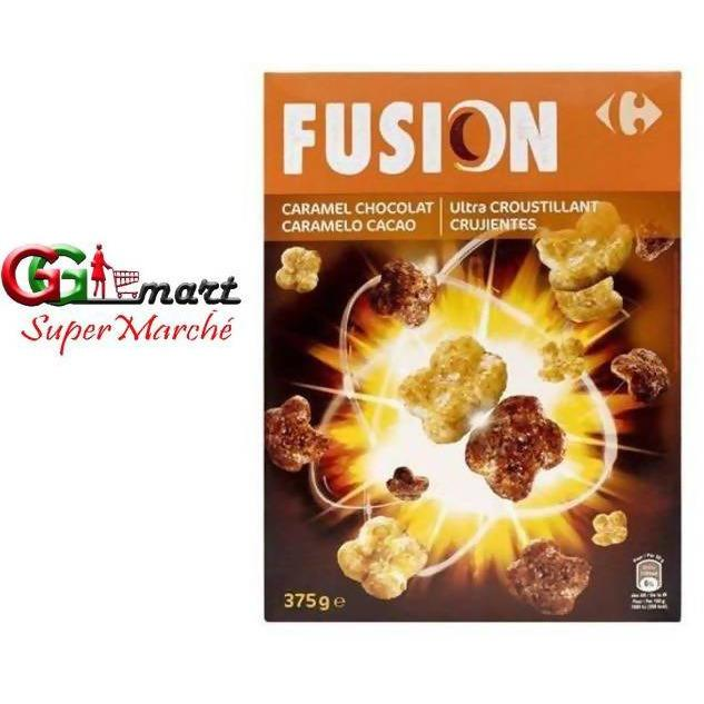 carrefour cereal fusion caramel choco 375g