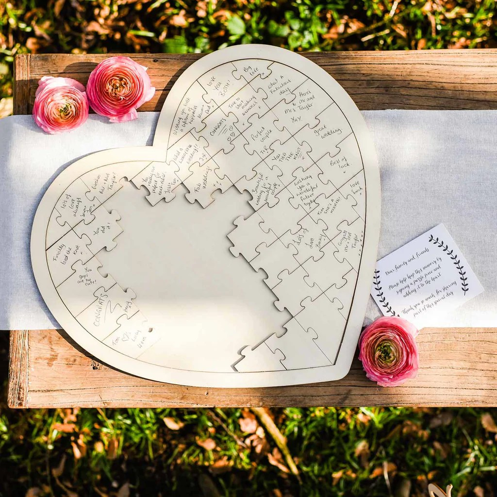 Heart Shaped Wedding Cake Toppers