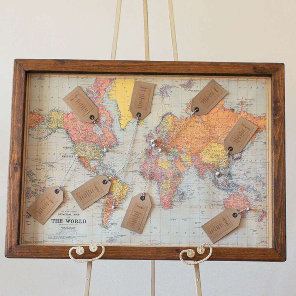 World Map Wedding Table Plan – The Wedding of My Dreams