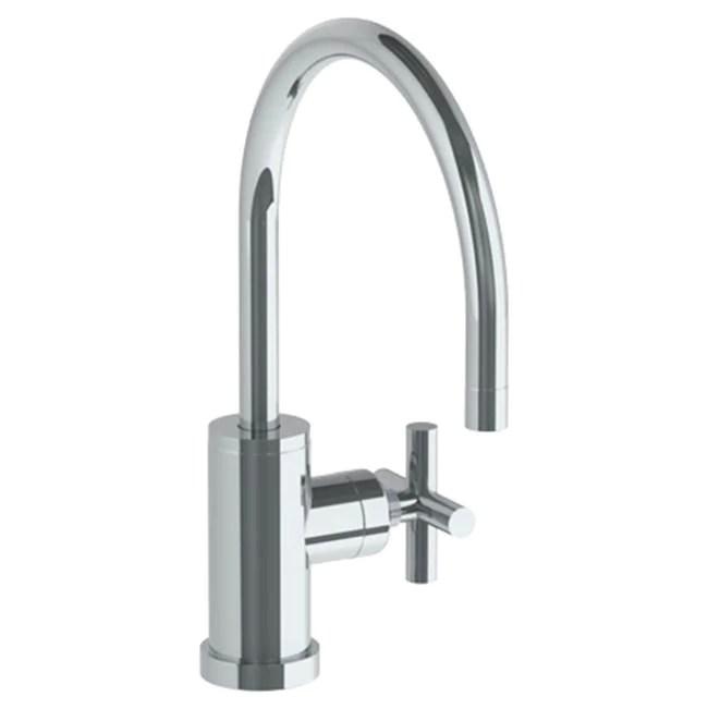 watermark 23 7 3g l9 loft 2 0 deck mounted 1 hole gooseneck kitchen faucet