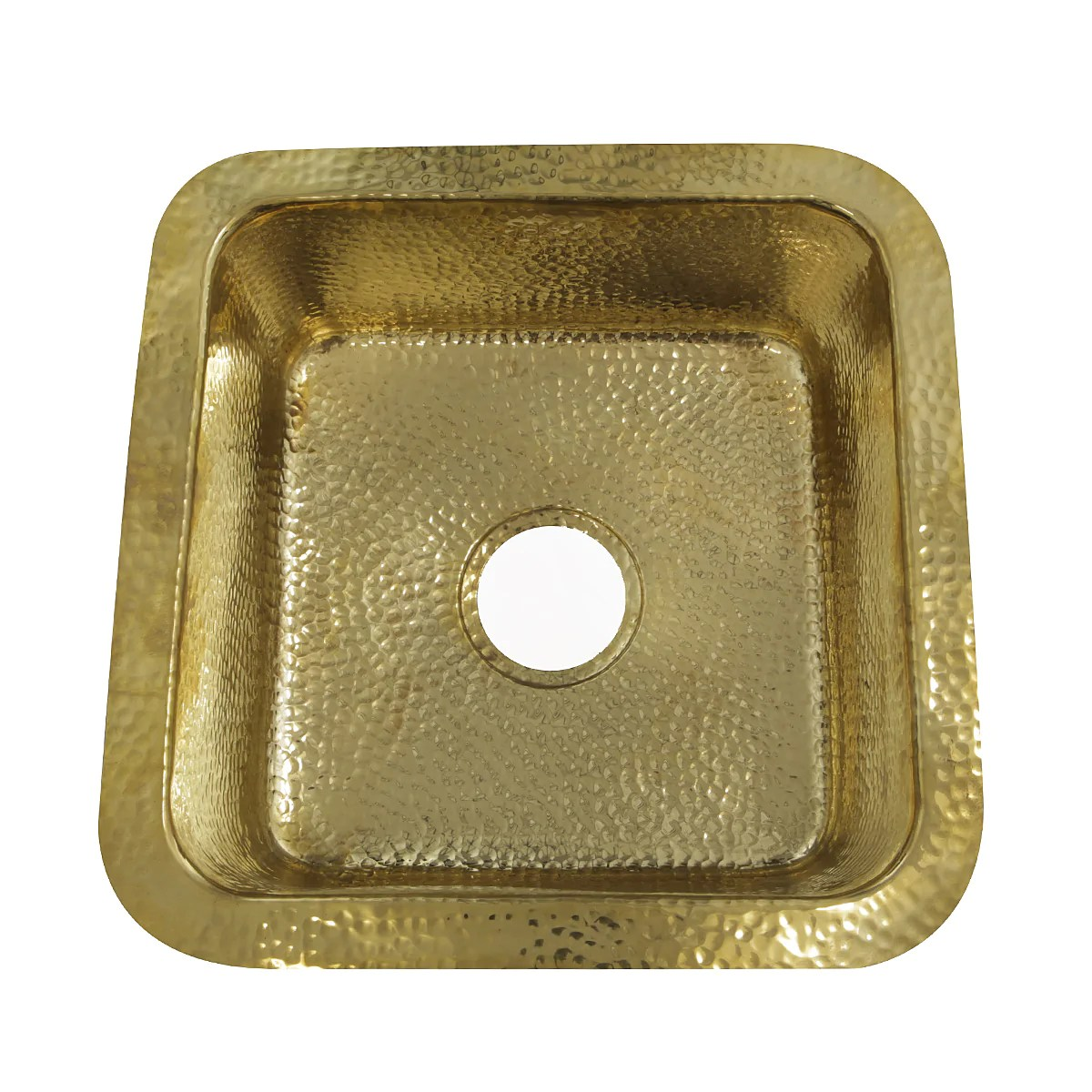 nantucket sinks sqrb 7 16 625 hammered brass square undermount bar sink