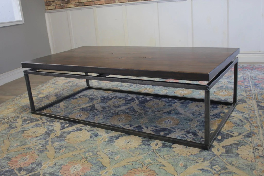https carpenterjames com products floating top steel base coffee table