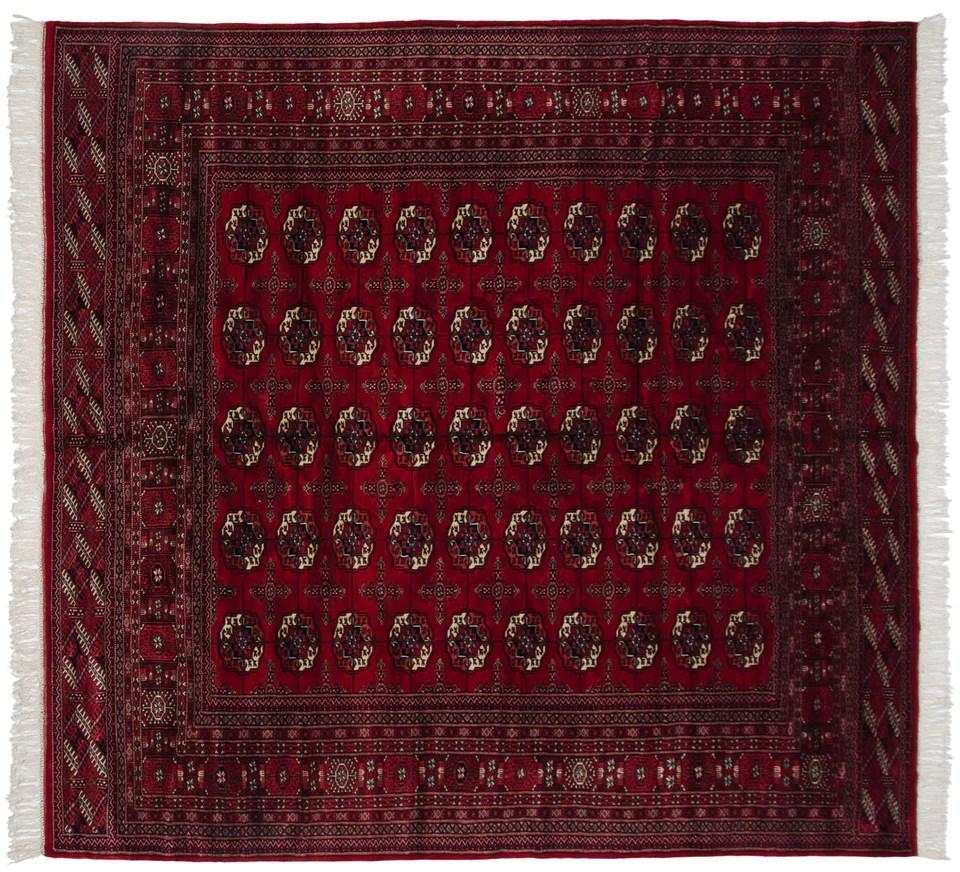 8x8 5 vintage ersari square carpet