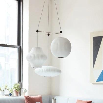 nelson triple bubble lamp fixture