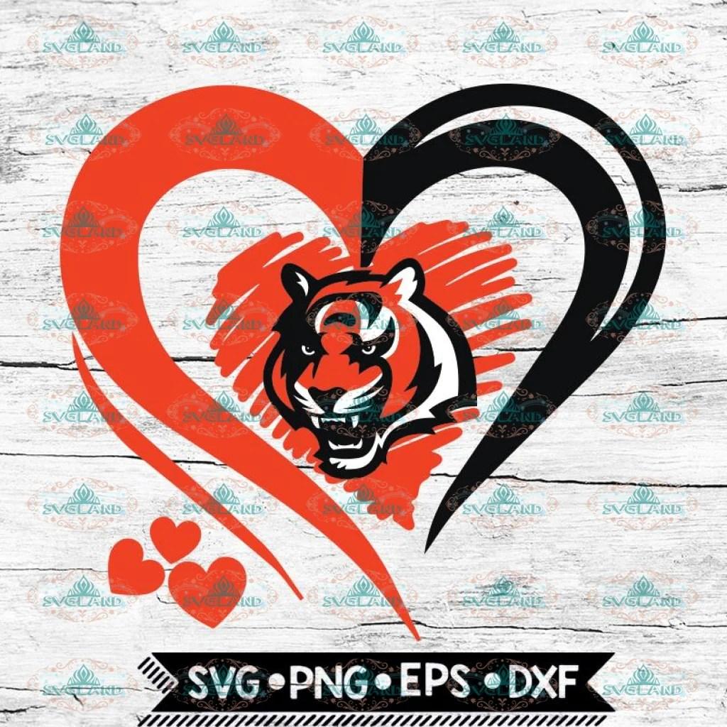 Download Cincinnati Bengals Love Svg, Heart Cincinnati Bengals Svg ...