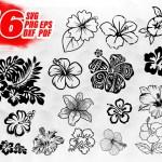Hibiscus Svg Hibiscus Clipart Hawaii Flower Silhouette Stencil Fl Clipartic