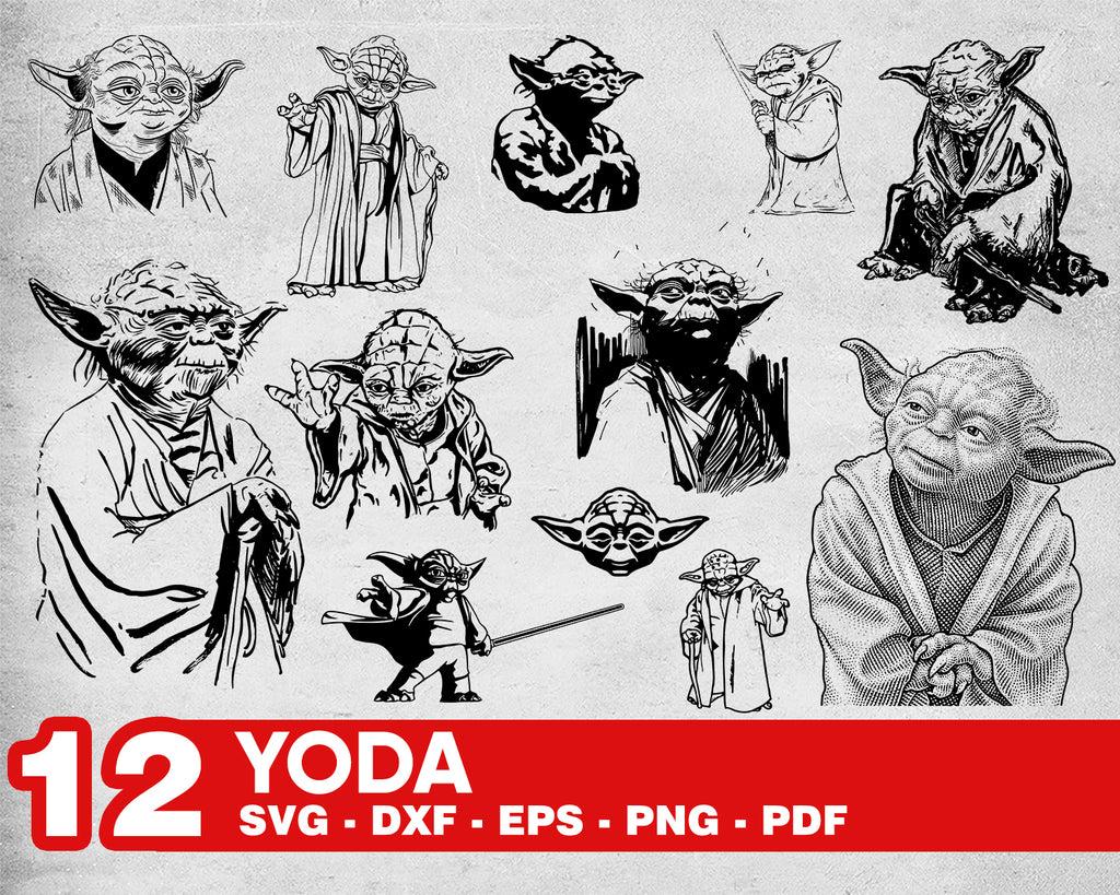 Baby Yoda Head Svg