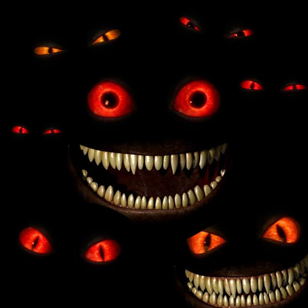 halloween background cat eyes 600x600