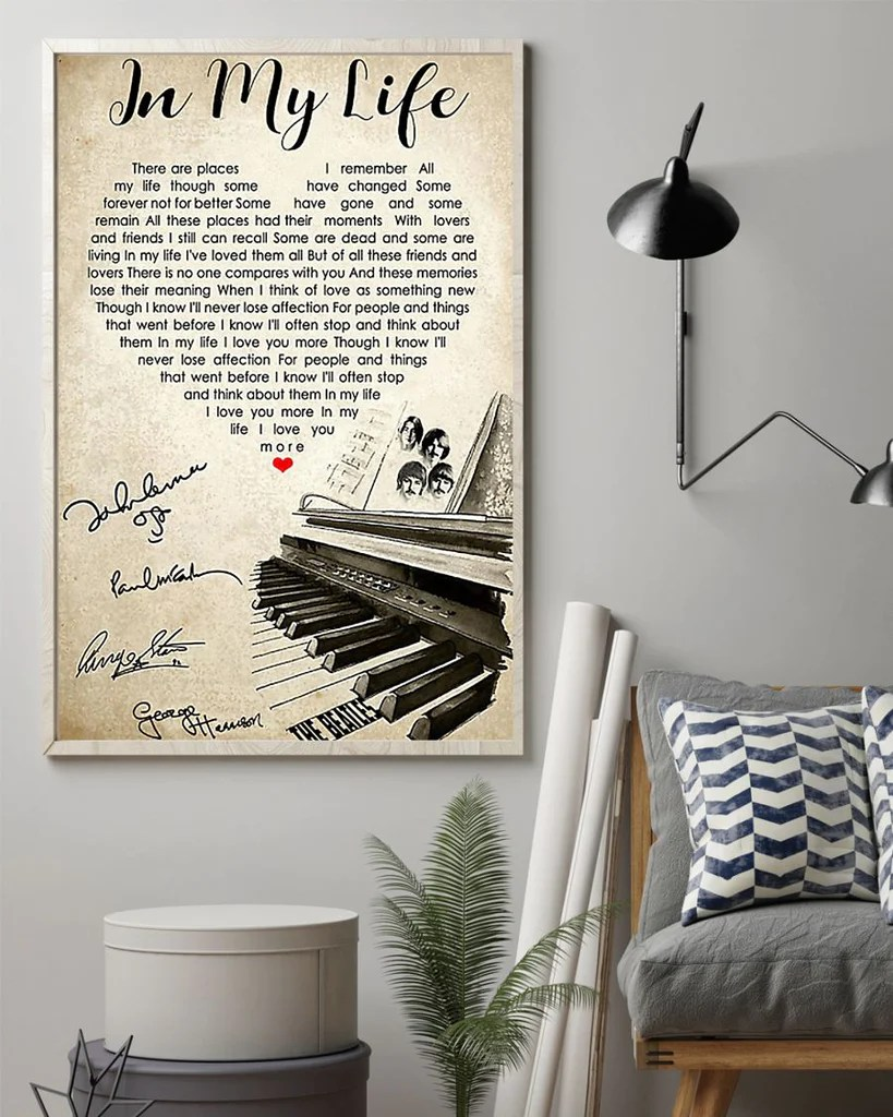 the beatles poster in my life song