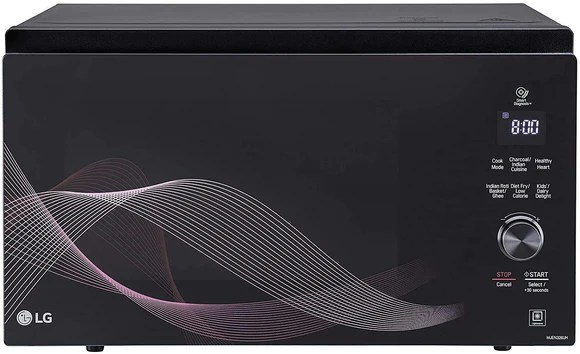 lg 32 l charcoal convection healthy heart microwave oven mjen326uh black line pattern neo chef design