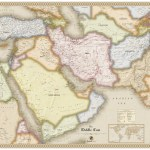 Antique Style Middle East Wall Map Maps Com Com