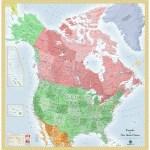 Usa And Canada Wall Map Maps Com Com