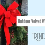 Outdoor Velvet Ribbon Wreath Bow Tutorial Trendy Tree