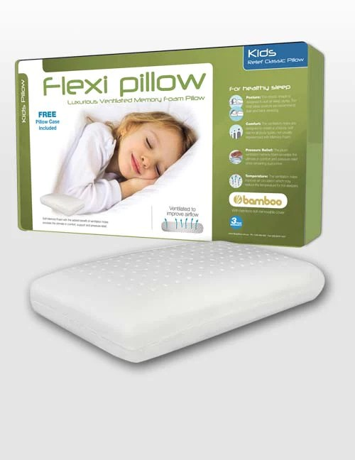 flexi pillow relief classic kids pillow with bamboo
