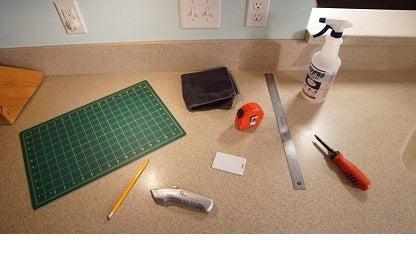 to install peel and stick backsplashes