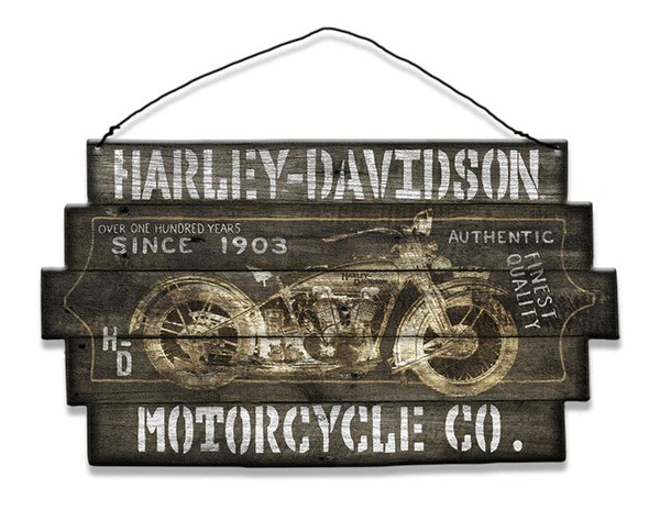 Harley Davidson Motorcycle Co Since 1903 Wood Sign