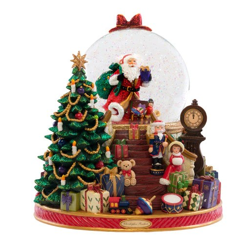 Splendent Santa Snow Globe Christopher Radko Ornaments