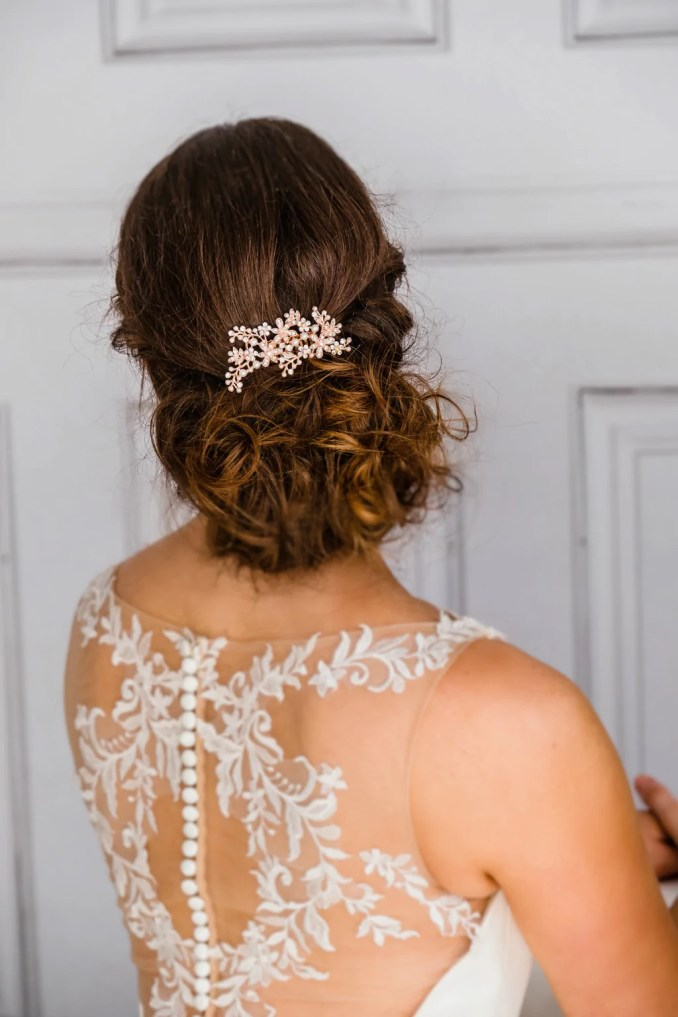 rose gold bridal hair comb bride bridesmaids amie *now 30% off* - the bridal outlet
